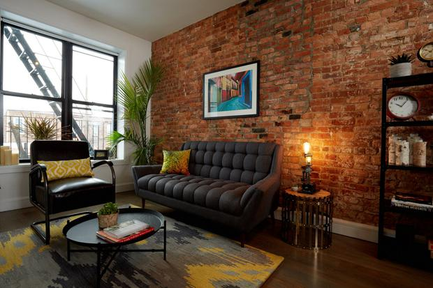 The shared living room space