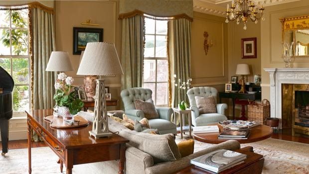 The drawing room at Bishop's Vale in Kilternan, County Dublin.