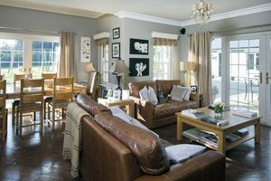 The light-filled dining/sitting area in Michelle Keane's house in Kerry