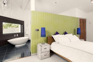The master bedroom and ensuite