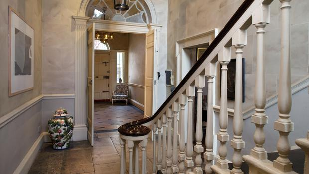 From the beginning, Jen was particularly taken with the arched fanlights and felt they were Moorish in influence. He bought the Moroccan lantern in the outer hall even before he had sealed the deal for the house. Photo: Tony Gavin