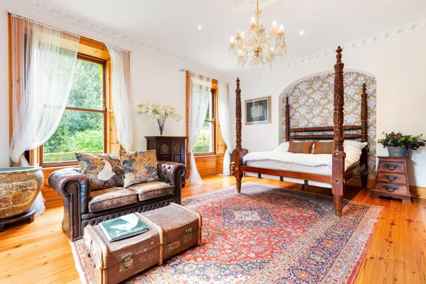 There are six bedrooms in the house, some of which are like small apartments