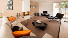 The cosy living room in the Glenageary property