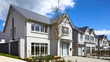 The modern render finish to the exterior at Ballinahinch Wood