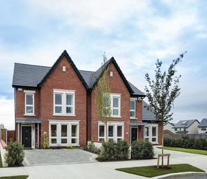 Traditional appearance: the four-bed semi-detached showhouse