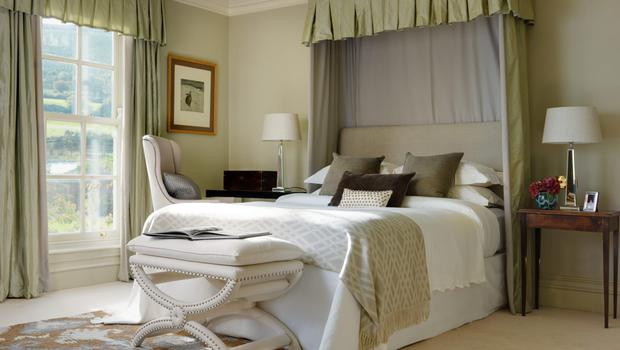 A canopy bed in one of the suites at Bishop's Vale