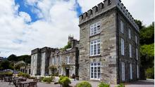 Lording it: The Castle in Castletownshend, Co Cork, is owned by Sharon Poulter and Justin Cochrane-Townshend