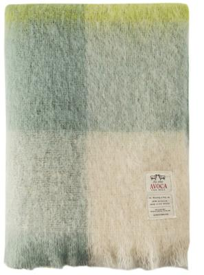 Cosy, €124.95. If we're going to bury down under blankets, let them be pretty. M192 Mohair throw; Avoca, avoca.com.