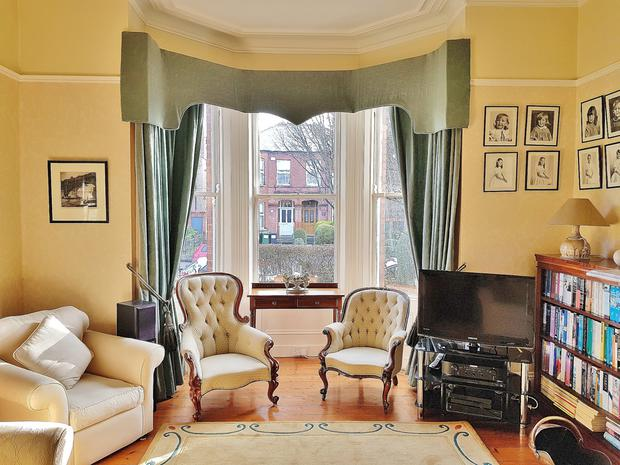 Bay window in the drawing room