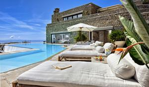 Nine bedrooms, nine bathrooms and a whole lot of fun await the purchaser of this Mykonos villa.
