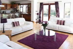Another view of the living room at Gortshane