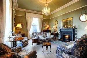 The drawing room at Dromderrig