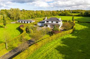 The 6.67ac property with stables