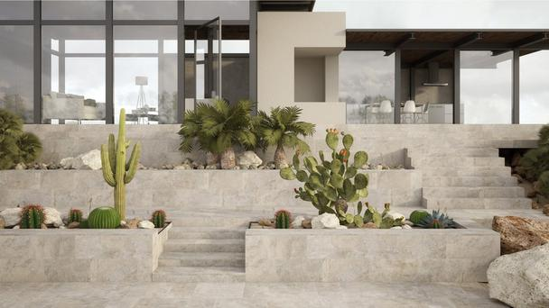 Polished concrete and porcelain,, as shown here from halotiles.ie, replace decking