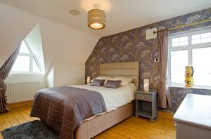 One of the bedrooms at Milverton