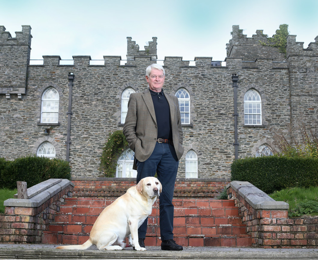 Cyril O Brien with his dog Adam outside Knockabbey Castle near Ardee, Co Louth