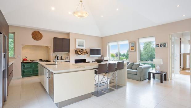 The large and bright kitchen at Farnham Hill