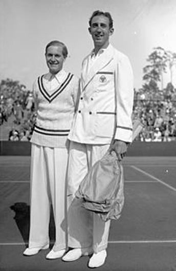 Professional tennis player George Lyttleton Rogers (right) whose family resided in the castle
