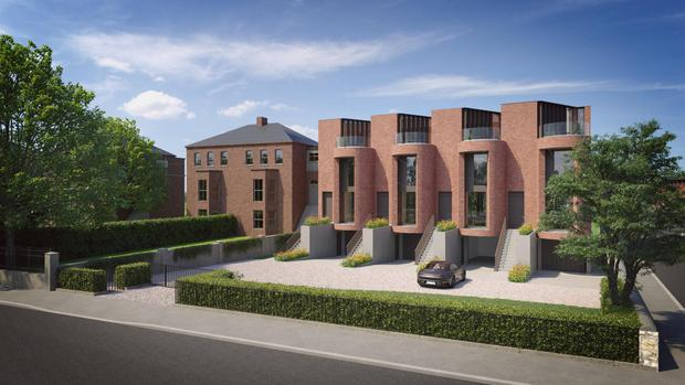 The frontage at the Charleston Town homes in Ranelagh, Dublin 6