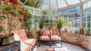 The sun room/conservatory at No22 Kenilworth Road in Dublin