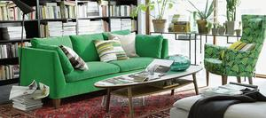Stockholm sofa from Ikea.