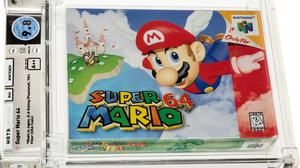 A launch copy of Super Mario 64 (1996) sold for €1.27m at auction in the US