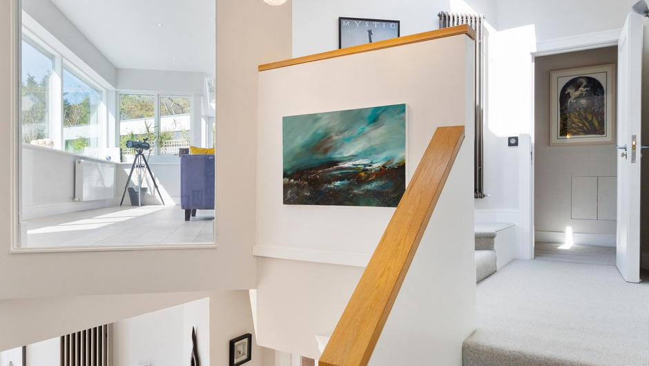The stairs and landing