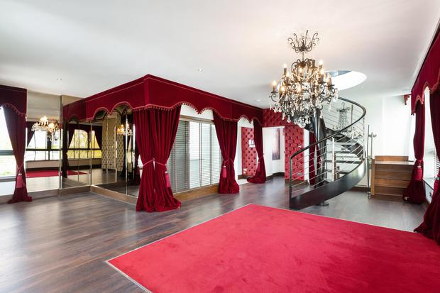 The main reception room in the penthouse