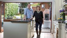 Stephen Behan and Julieanne Bonner in the kitchen of the house they are selling in Drumcondra, Dublin.