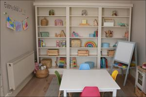 Now is a good time to be thinking of upcycling. Interiors Instagrammer Lorna Pringle added beading, cornicing and skirting to the shelves in her daughter's playroom. While the children are at home, get them involved in decorating their own playrooms and bedrooms