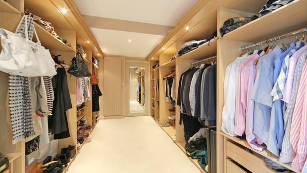 Farnham Hill walk-in wardrobe