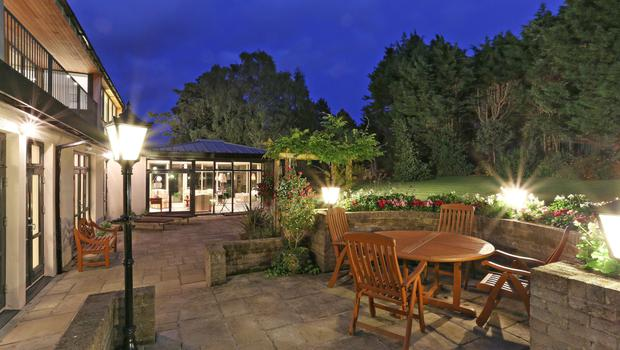 The sizeable patio for entertaining on summer evenings.