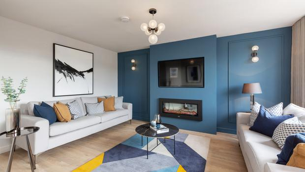 Seaside living: A sitting room at the Taylor Hill development in Balbriggan
