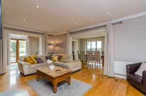 The main open-plan living area