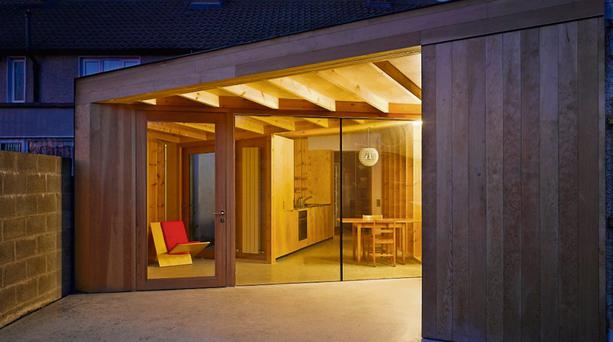 A house extension on Rutland Avenue Dublin, which is shortlisted for a 2013 RIAA Irish Architecture Award. It was designed by Eamon Peregrine Architects.