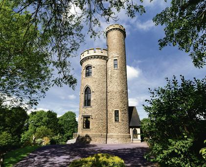 Fr Mathew Tower at Tower Hill in Glounthaune, outside Cork city, on sale for €950k (Sherry Fitzgerald)