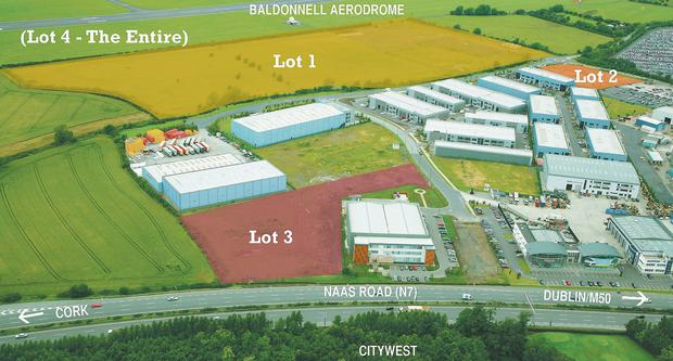 Baldonnell Business Park in Dublin 22 which has been put up for sale with a guide price of €4.75m