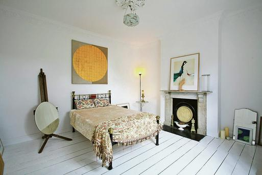 One of the bedrooms in the Camden Row house