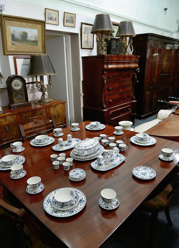 Some of the items on sale at the Herman Wilkinson Auction Rooms.