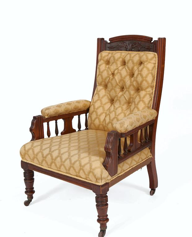 A chair on sale at Adams Auctioneers
