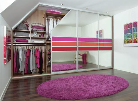 A wardrobe from Sliderobes to fit an awkward space.