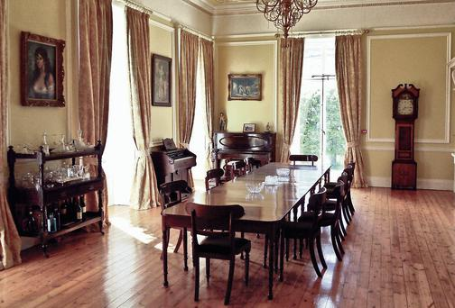 The dining room in Marlfield