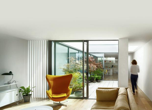 The Alma Road building was designed with a central courtyard to add light