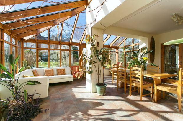 The sun room at 7 Pear Tree Field in Blackrock