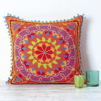 Suzani embroidered cushion (45x45 cm) from Cult Furniture (around £28 from www.cultfurniture.com)