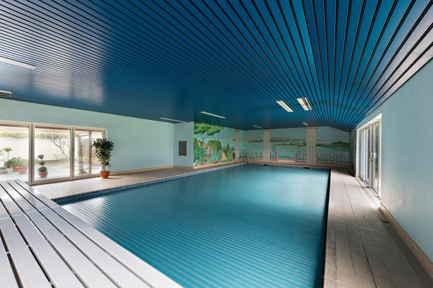 The pool complex is a massive 2,250 sq ft and is clearly designed for someone who takes their morning lengths very seriously indeed