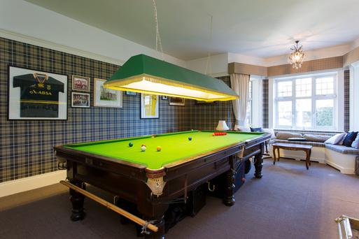 Blackrock home with a snooker table included on the market for Garden pool table room