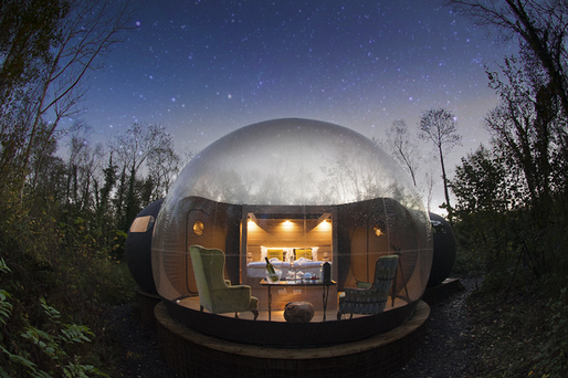 The glass dome was designed by Ronan Lowery from Belleck