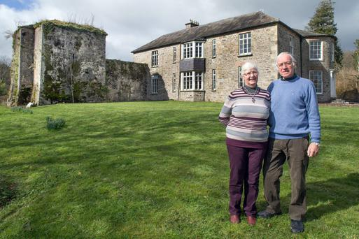 Eva and John Peet at Agherne House, Conna, Co. Cork