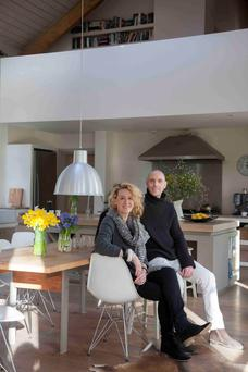 Danish architect Kim Dreyer and his Irish artist wife Susan show off their light-filled home